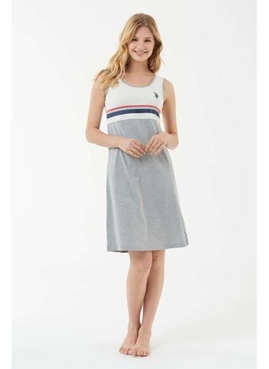 U.S. Polo Assn. Kadın Elbise Gri